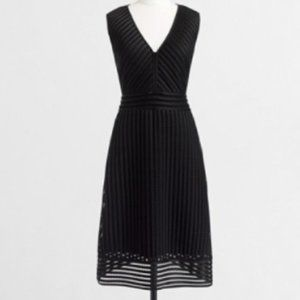 J Crew Factory  Striped Eyelet Dress Formal  Black